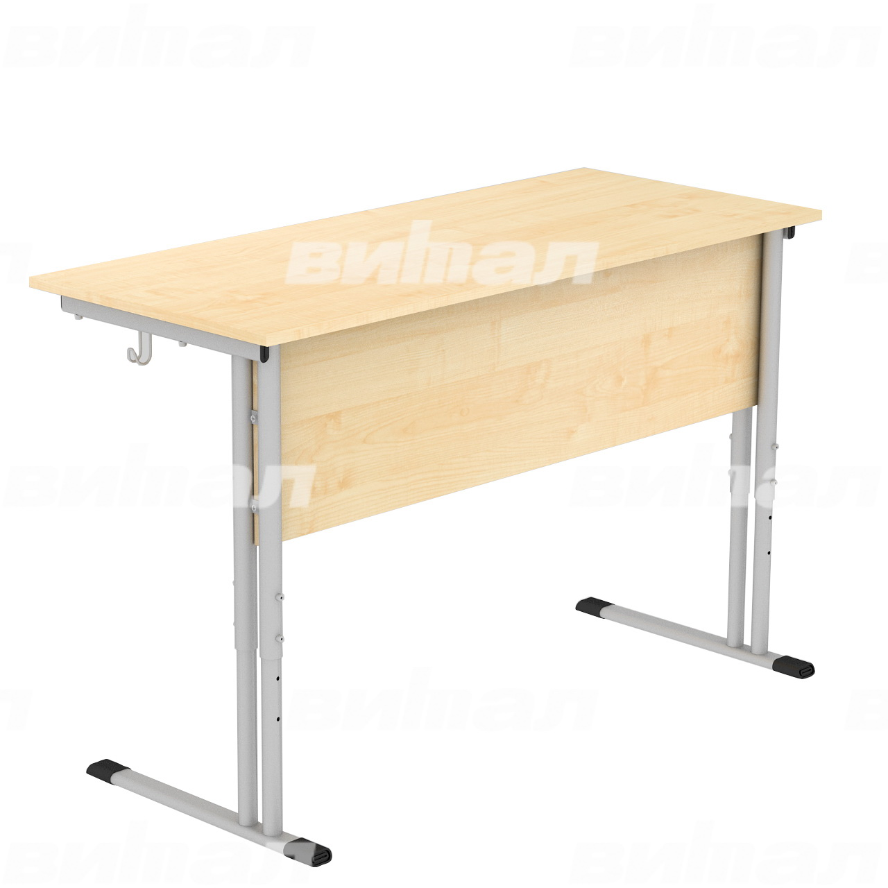 Стол ученический 2-местный регулируемый гр. 4-6 серый Клен 4-6 Пластик