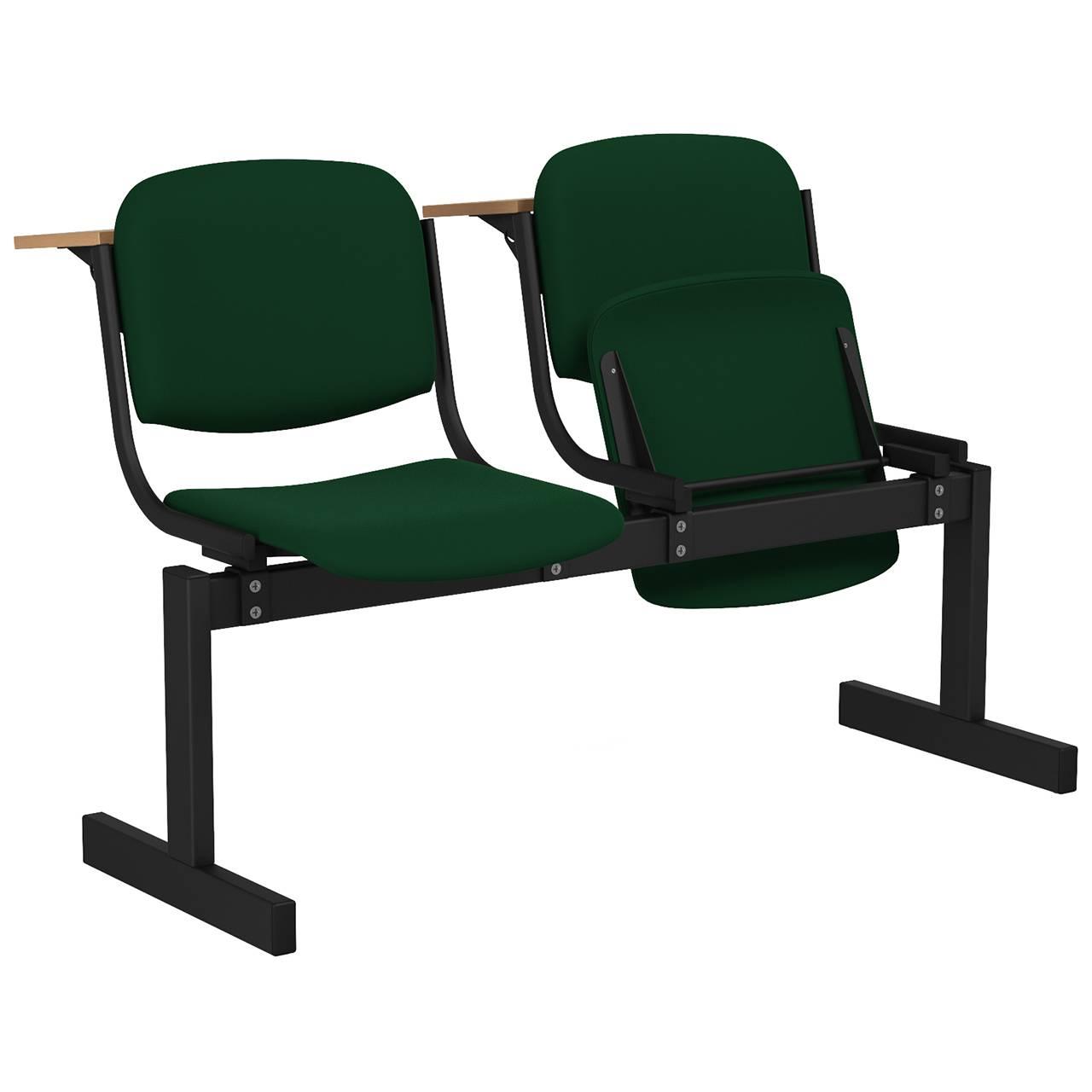 2-местный, откидывающиеся сиденья, мягкий, лекционный черный зеленый Флок