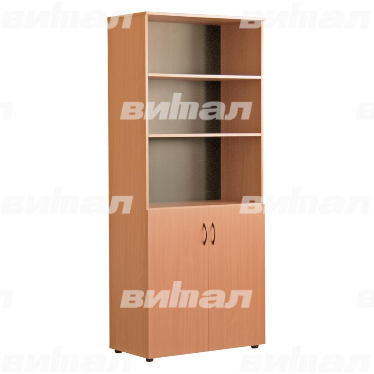 Шкаф для документов «Директор» широкий полуоткрытый Бук-бавария Меламин