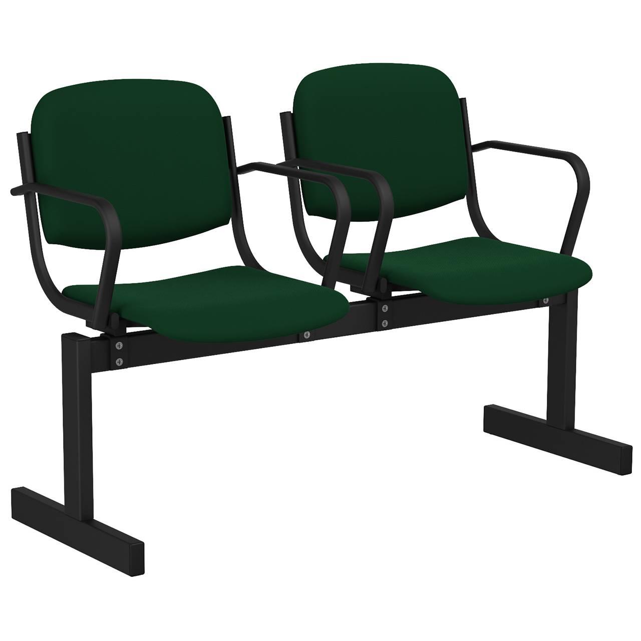 2-местный, не откидывающиеся сиденья, мягкий, подлокотники