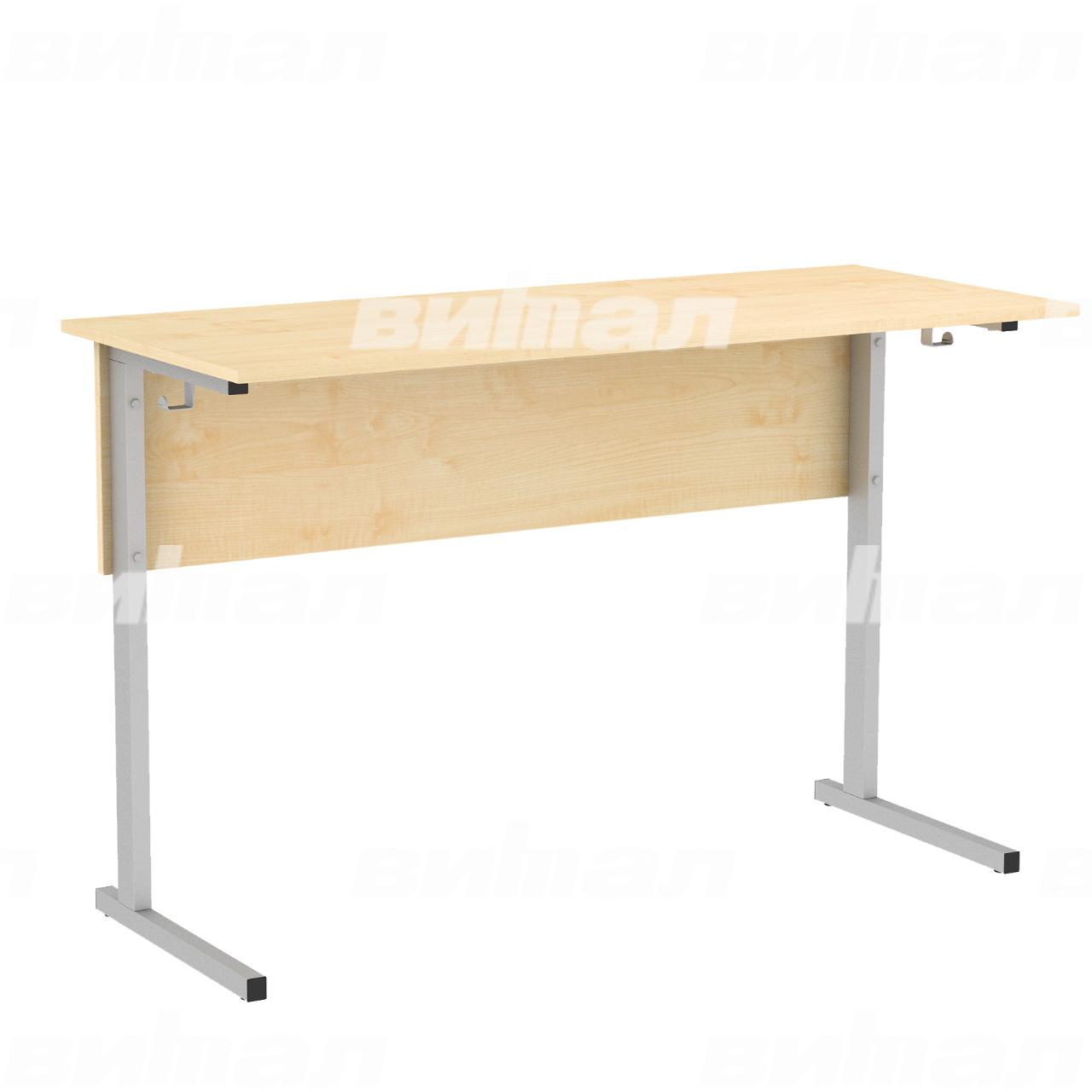 Стол ученический лабораторный без бортиков (гр. 5,6) серый Клен 6 Пластик