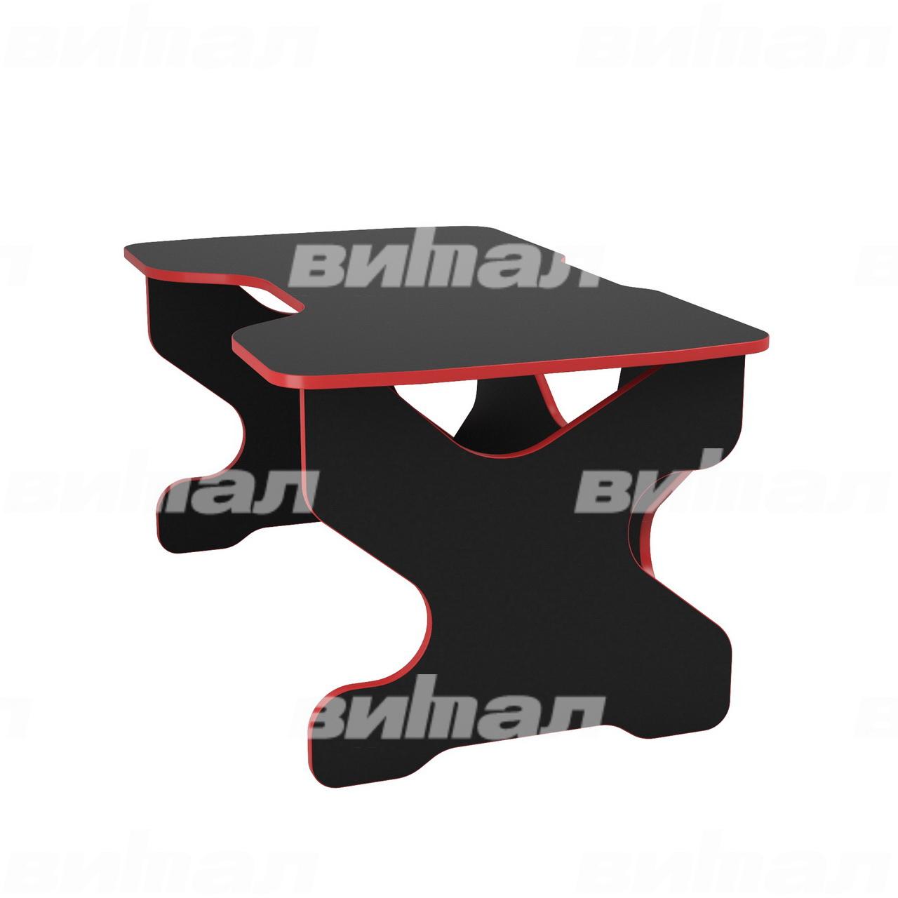 Компьютерный стол Райдер Красный/Черный
