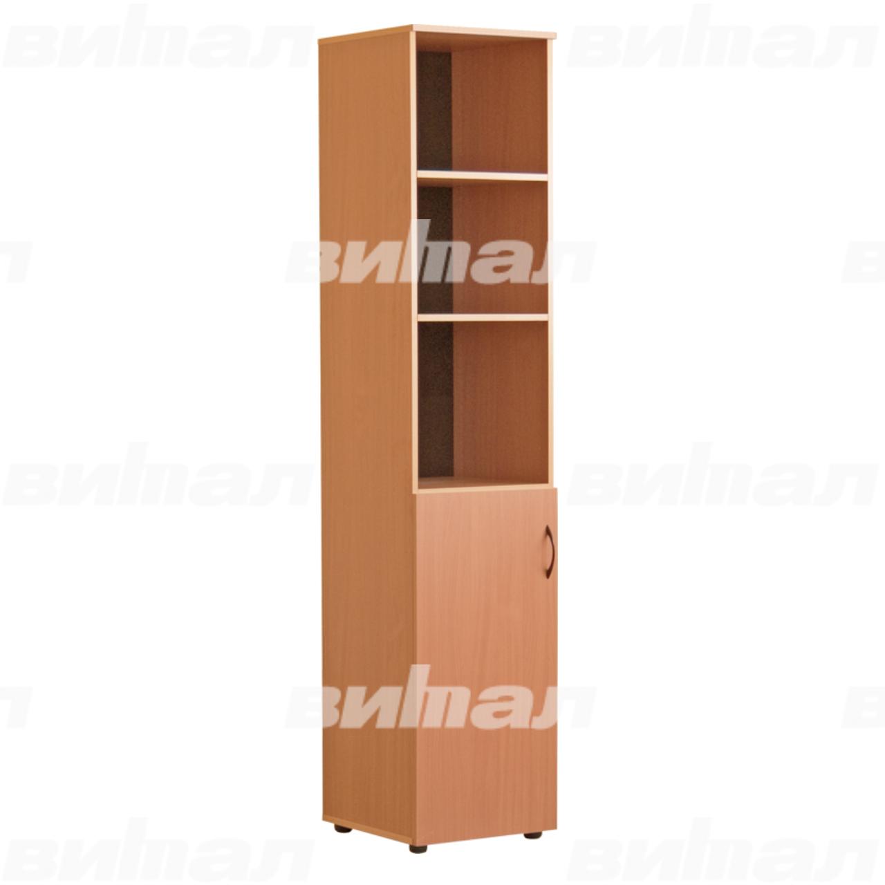 Шкаф для документов «Директор» узкий полуоткрытый Бук-бавария Меламин